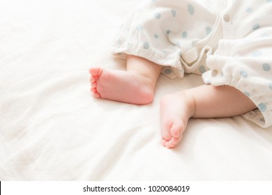 asian baby's foot
