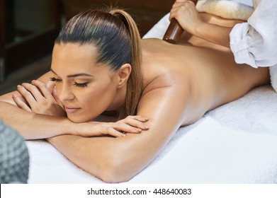 asian back massage therapy spa hot stone