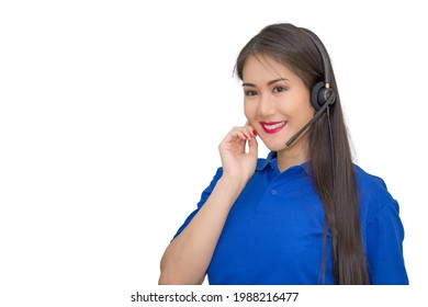 Asian beautiful woman,customer operator helpline service center,staff support sale with headset,call center telephone, telemarketing representative information assistant,isolated white background
