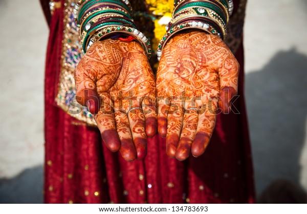 Asian Bridal Henna,intricate designs from Indian art/ Henna - Mehndi/India