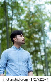 Asian business male in the outdoors