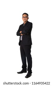 asian business man isolated on white full body