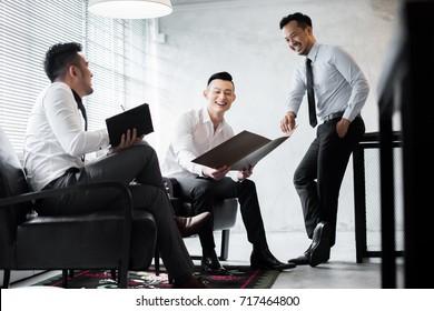 Asian business team.