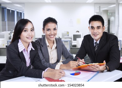 Asian business team at a meeting in office