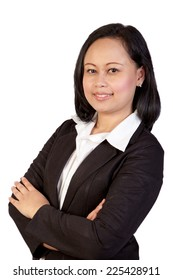 Asian Business Woman isolated in white background