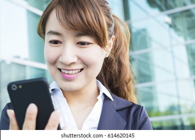 asian business woman at work