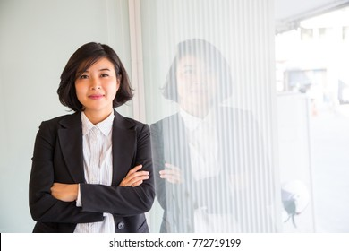 Asian business women ,smart people in the office.