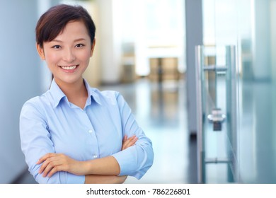 asian business young woman indoor portrait