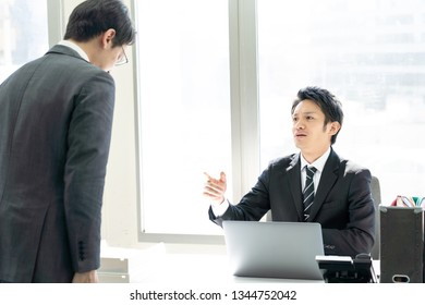 asian businessgroup working in office