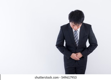 Picture of asian men bowing