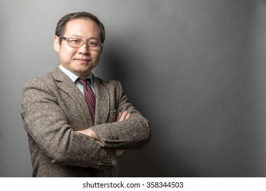 Asian Businessman in an Isolated Background