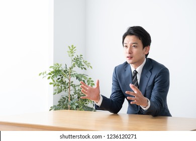 asian businessman in the office