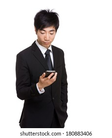 Asian businessman using mobile