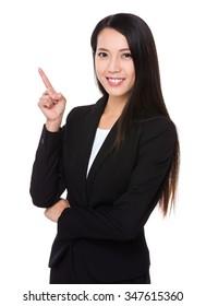 Asian Businesswoman got an new idea