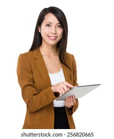 Asian businesswoman use of tablet