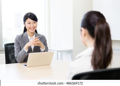 asian businesswomen on the meeting
