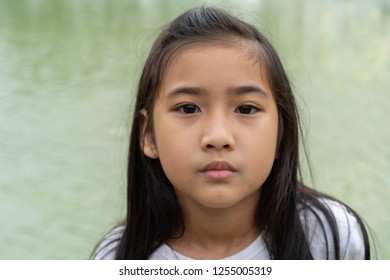 Asian child cute girl