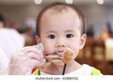 Asian child funny face