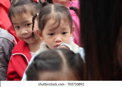 asian children have activity and play game in group at school. They are fun in the Children's Day, 14 Jan 2017, Chiangmai Thailand