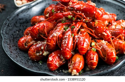 Asian Chinese Food Spicy Crayfish