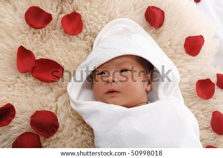 Asian Chinese Newborn Baby Wrap White Stock Photo Edit Now