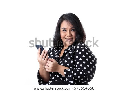 Chubby asian woman