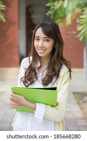 Asian college student.