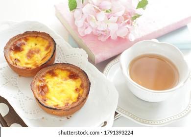 Asian confectionery, egg tart for gourmet dessert