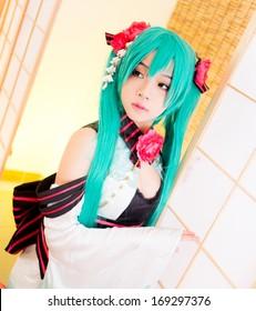asian cosplay girl sakura Washitsu