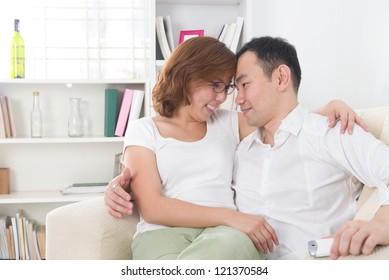 asian couple having their time lifestyle photo