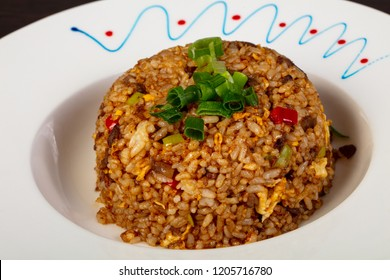 Asian cuisine - Fried rice with seafood