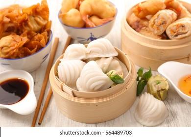 asian cuisine,assorted asian food
