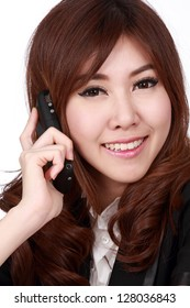 Asian cute women business with phone