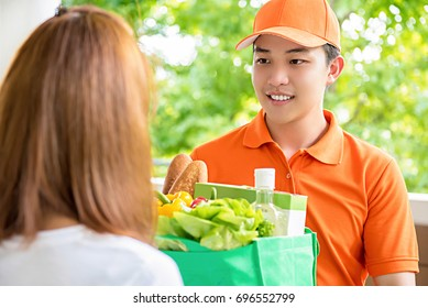 Delivery Grocery Images, Stock Photos & Vectors | Shutterstock