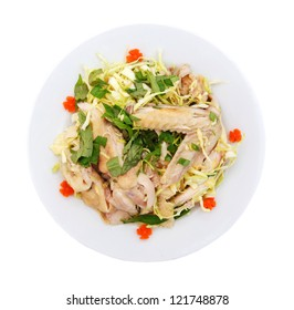 Asian dish made of chicken and salad