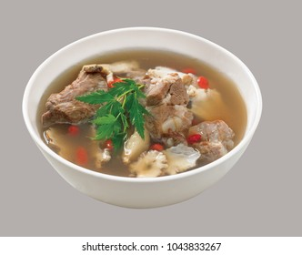 Asian dishes isolated
