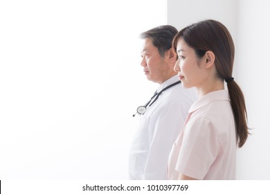 asian doctor and nurse