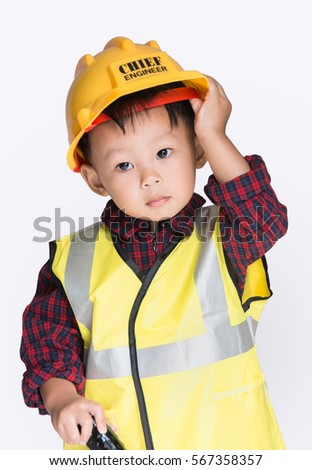 76b98fd2c16 Asian Engineer Baby Boy Tools Hand Stock Photo (Edit Now) 567358357 ...