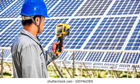 Asian engineers are using infrared instruments to inspect solar photovoltaic panels
