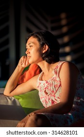Asian Ethnic Adult Female Daydreaming