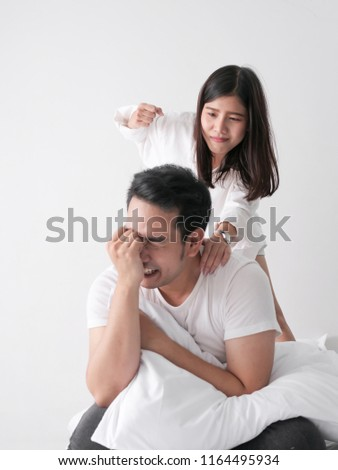 Asian fight wife foto