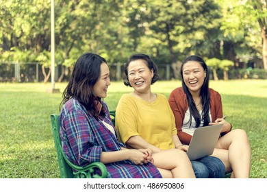 Asian Family Relaxing Lifestyle Concept