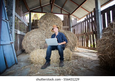 Asian Farmer and technology.