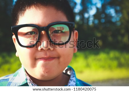 02d7931f6428 Asian Fat Boy Wearing Eyeglasses Stock Photo (Edit Now) 1180420075 ...