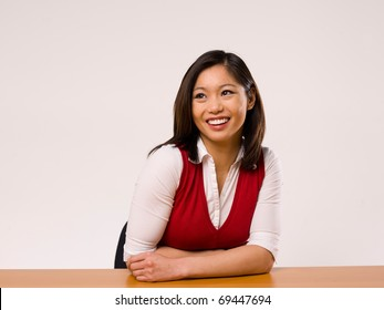 Asian Female Making a facial expression