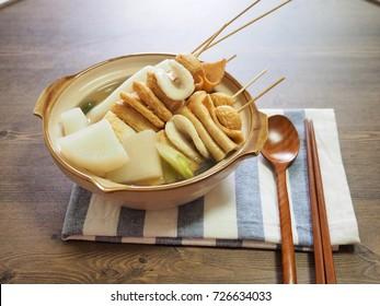 Asian food Fish paste stew