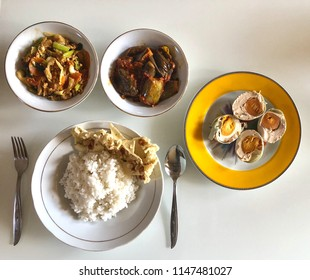 Asian food photography on white dining table