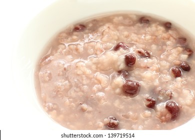 Asian food, red bean congee for healthy food image