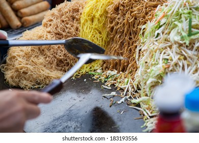 Asian food sold on the street