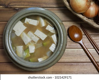 Asian food  Soybean Paste Stew ,miso soup